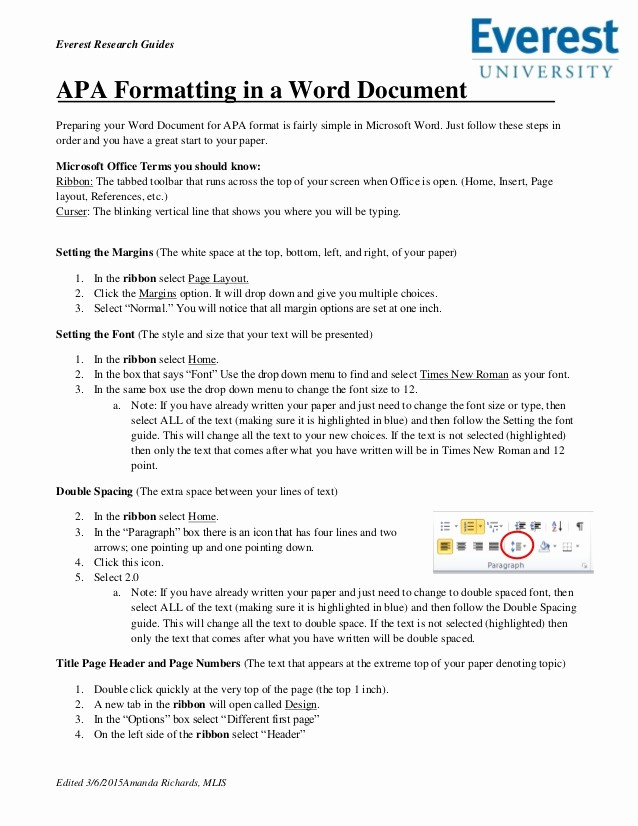 Convert Document to Apa format Inspirational Apa formatting In A Word Document