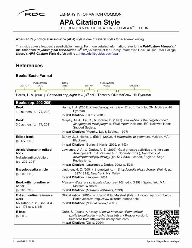 Convert Document to Apa format Luxury Apa Citation Style