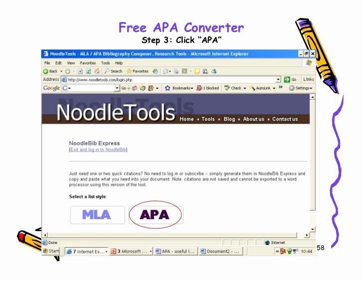 Convert Document to Apa format Luxury Apa Style 2007