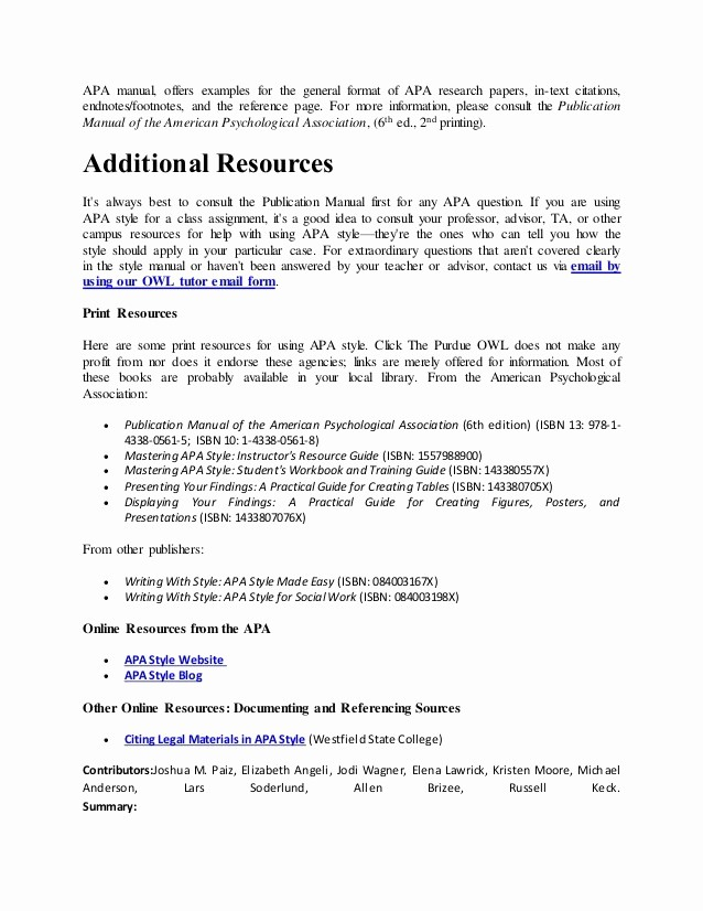 Convert Document to Apa format New Research Paper Example Apa Footnote Citation