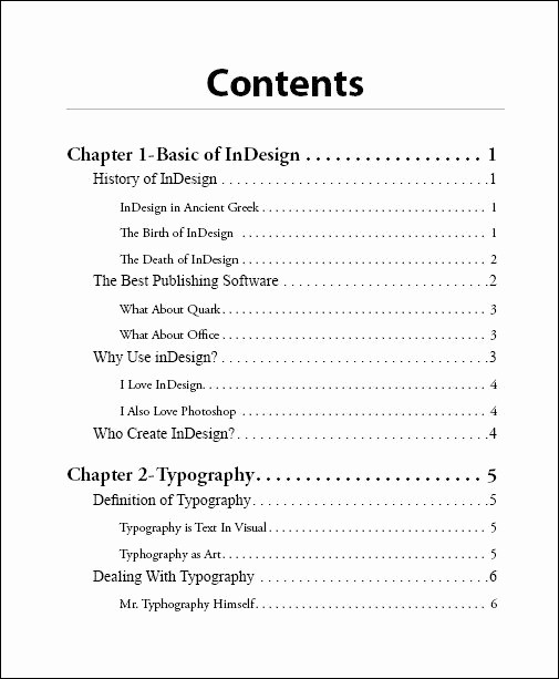 Cookbook Table Of Contents Template Beautiful How to Design A Table Of Contents Google Search