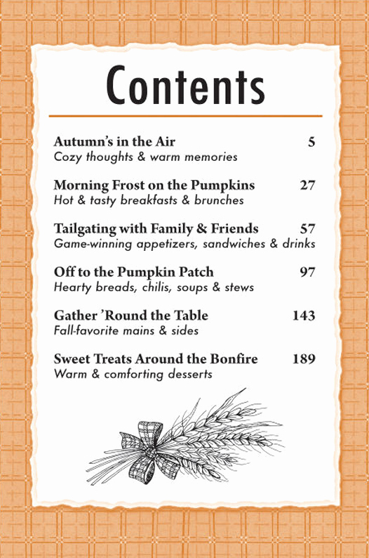 Cookbook Table Of Contents Template Elegant A Well Seasoned Life September 2014