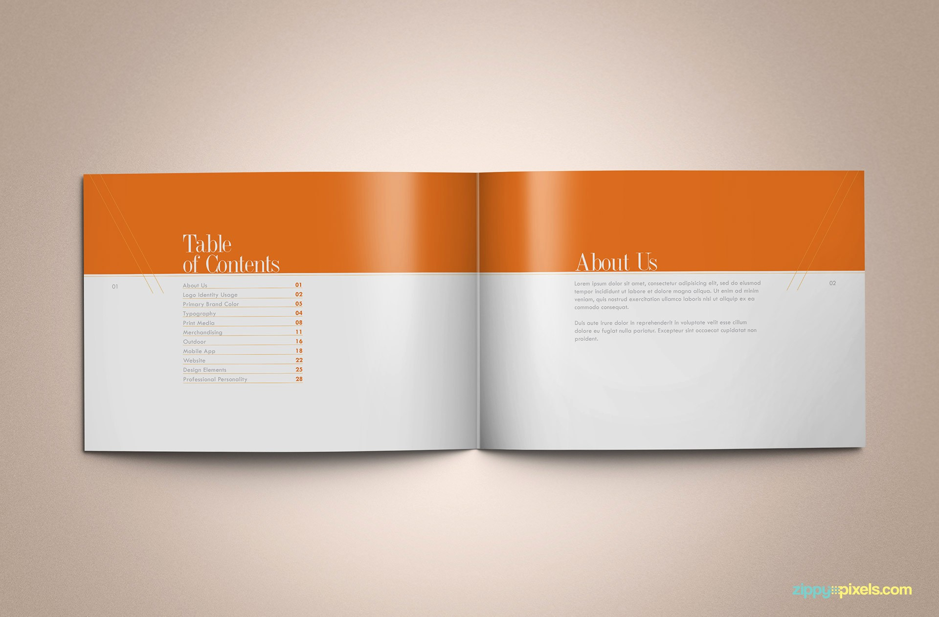 Cookbook Table Of Contents Template Inspirational Download Professional Brand Guidelines Brandbook Template