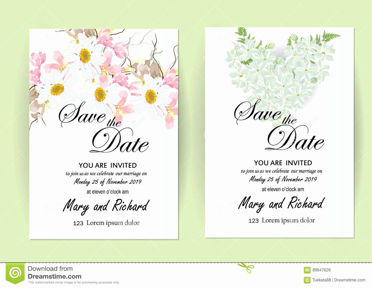 Cooking Class Gift Certificate Template Awesome Wedding Invitation Card Flowers Jasmine Stock Illustration