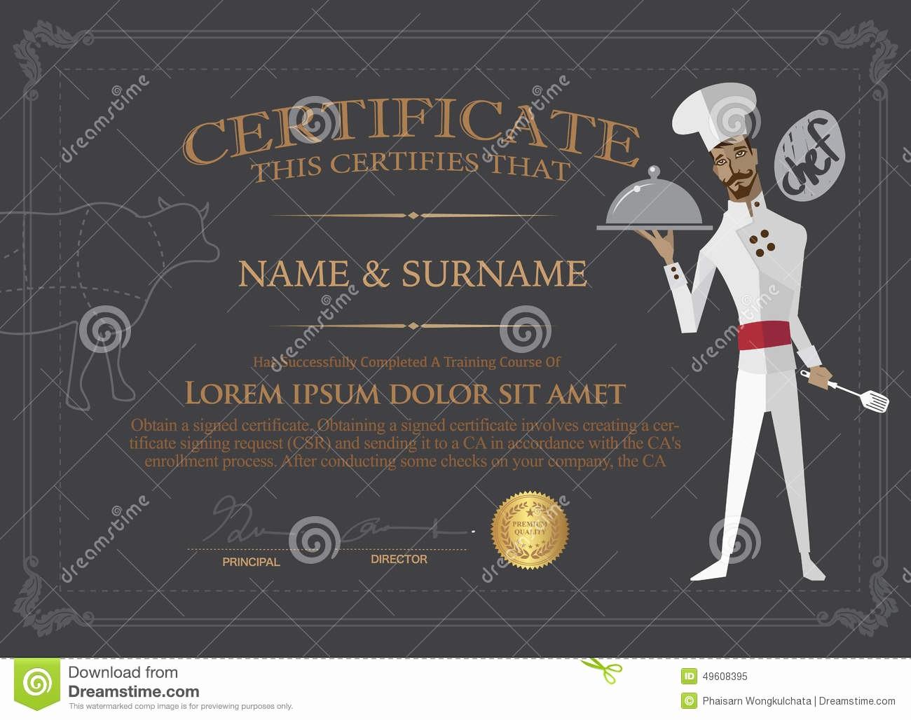 Cooking Class Gift Certificate Template Best Of Certificate for Chef Design Template People who Pleted