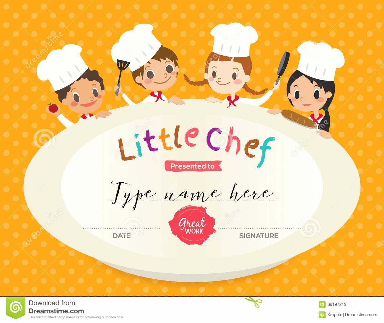 Cooking Class Gift Certificate Template Best Of Certificate Kids Diploma Kindergarten Template Layout