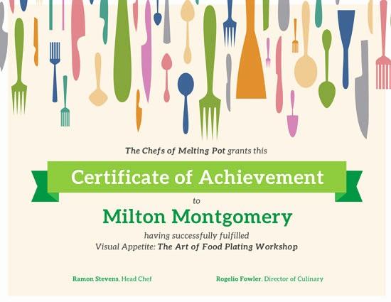 Cooking Class Gift Certificate Template Elegant Certificate Templates Canva