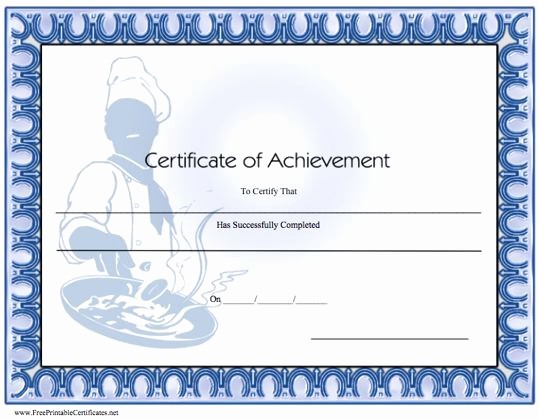 Cooking Class Gift Certificate Template Fresh 10 Best Of Culinary Certificate Templates Cooking