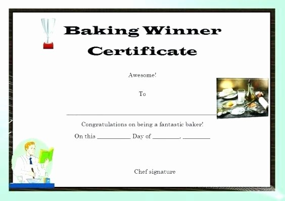 Cooking Class Gift Certificate Template Lovely Chef Certificate Template – Onlineemilyfo