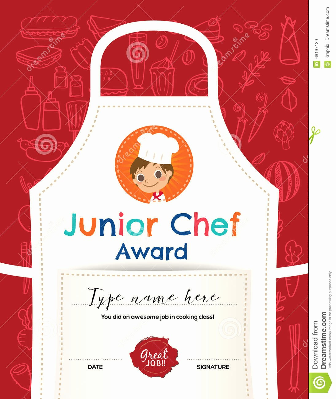 Cooking Class Gift Certificate Template New Certificate Kids Diploma Kindergarten Template Layout