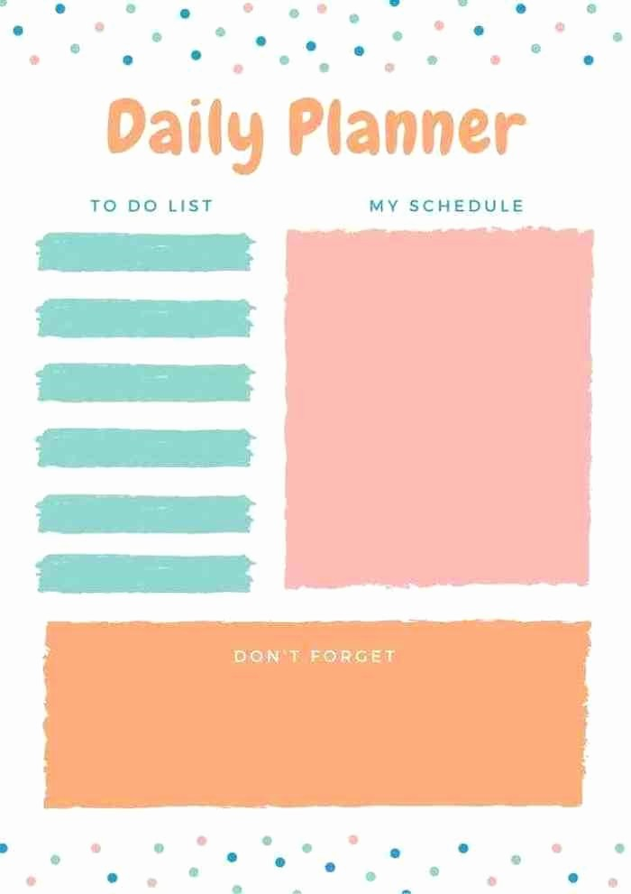 Cool to Do List Template Inspirational Five Amazing Free Daily Planner Printables