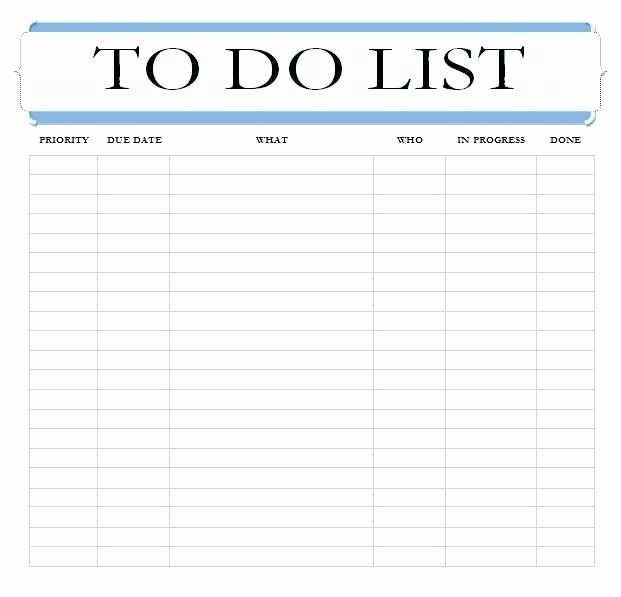 Cool to Do List Template Inspirational to Do List Excel Sheet Template Daily Task List Template