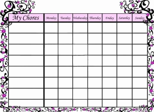 Cool to Do List Template Luxury Free Printable Chore Charts