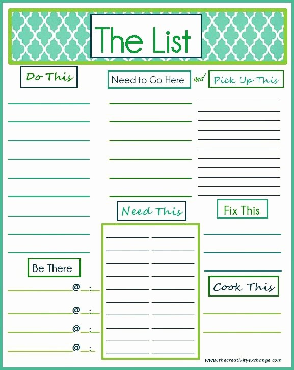 Cool to Do List Template Unique Printable Cool to Do List Template – Free Template Design