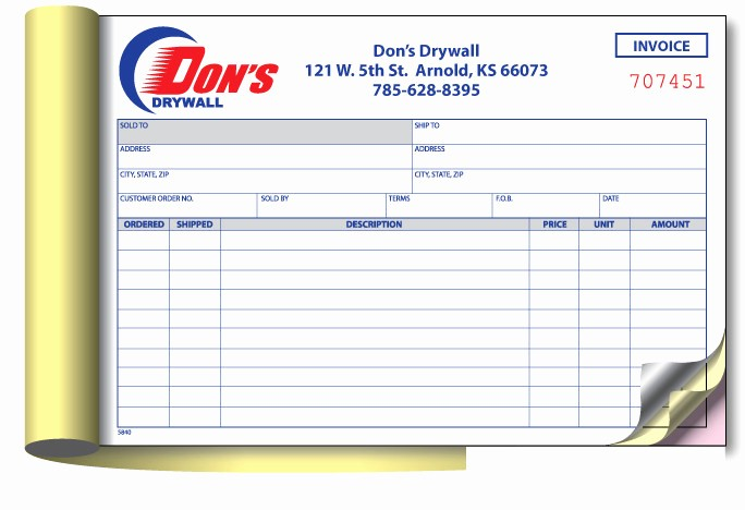 Copies Of Invoices for Free Best Of Invoice Book