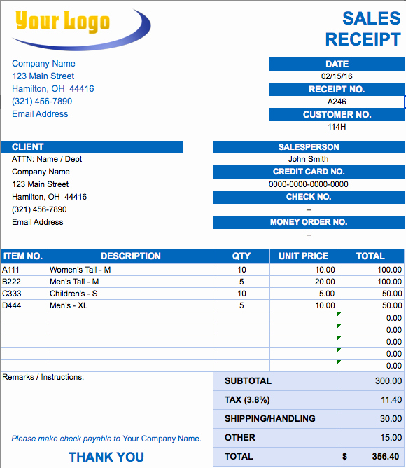 Copies Of Invoices for Free Elegant Free Excel Invoice Templates Smartsheet