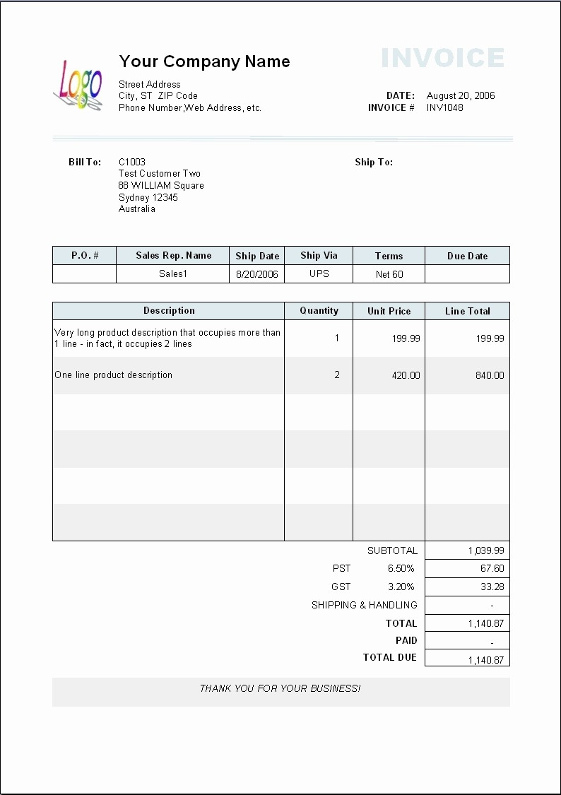 Copy Of A Blank Invoice Awesome Copy Blank Invoice Invoice Template Ideas