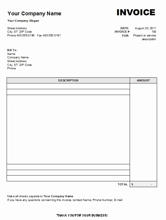 Copy Of A Blank Invoice Beautiful Free Printable Invoice Template Uk