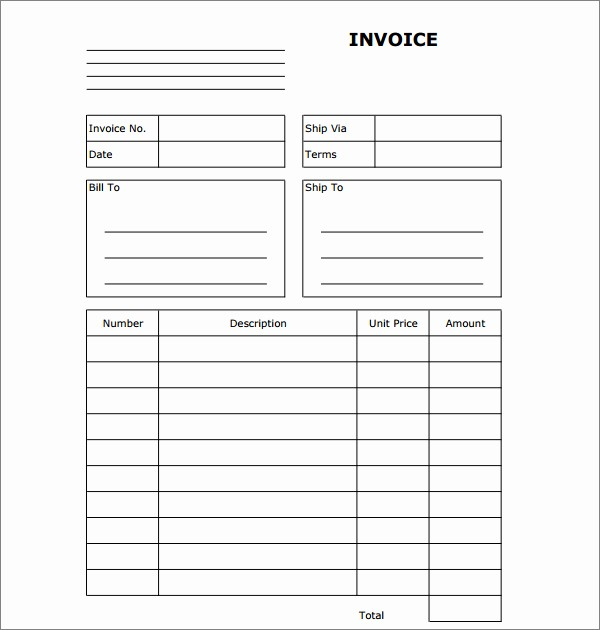 Copy Of A Blank Invoice Lovely Copy A Blank Invoice Rusinfobiz