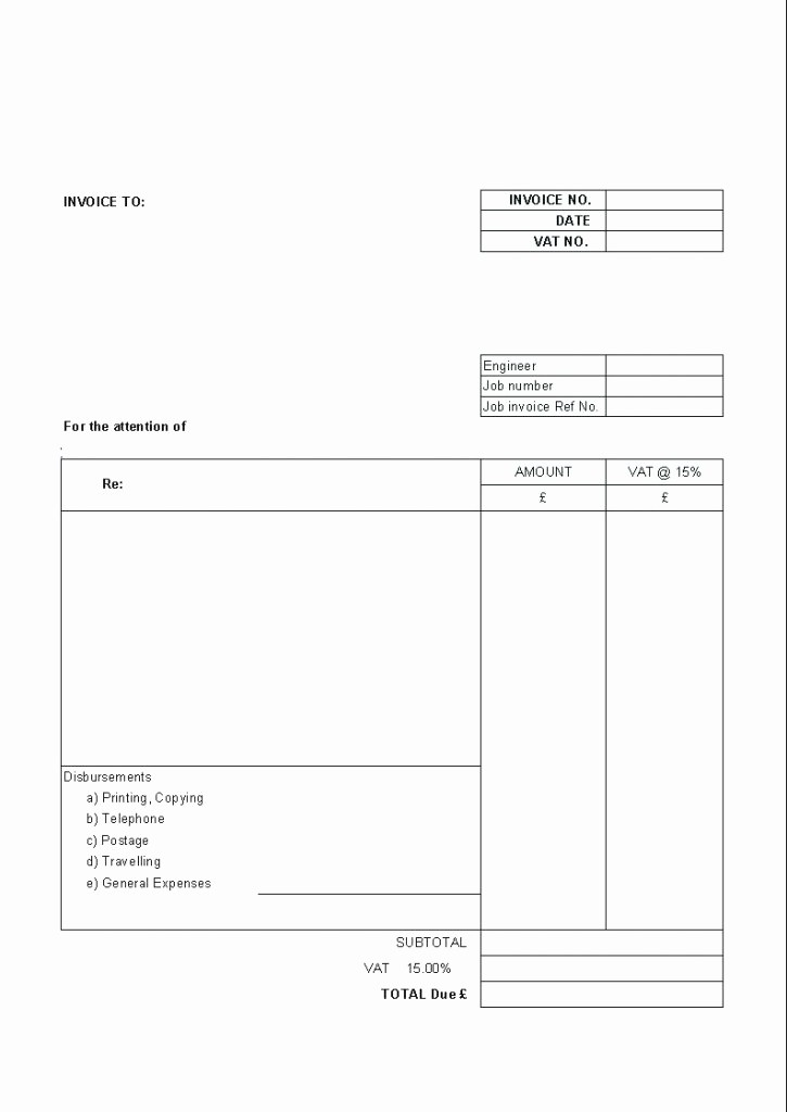 Copy Of A Blank Invoice Luxury Copy Blank Invoice Free Templates Proforma Canada