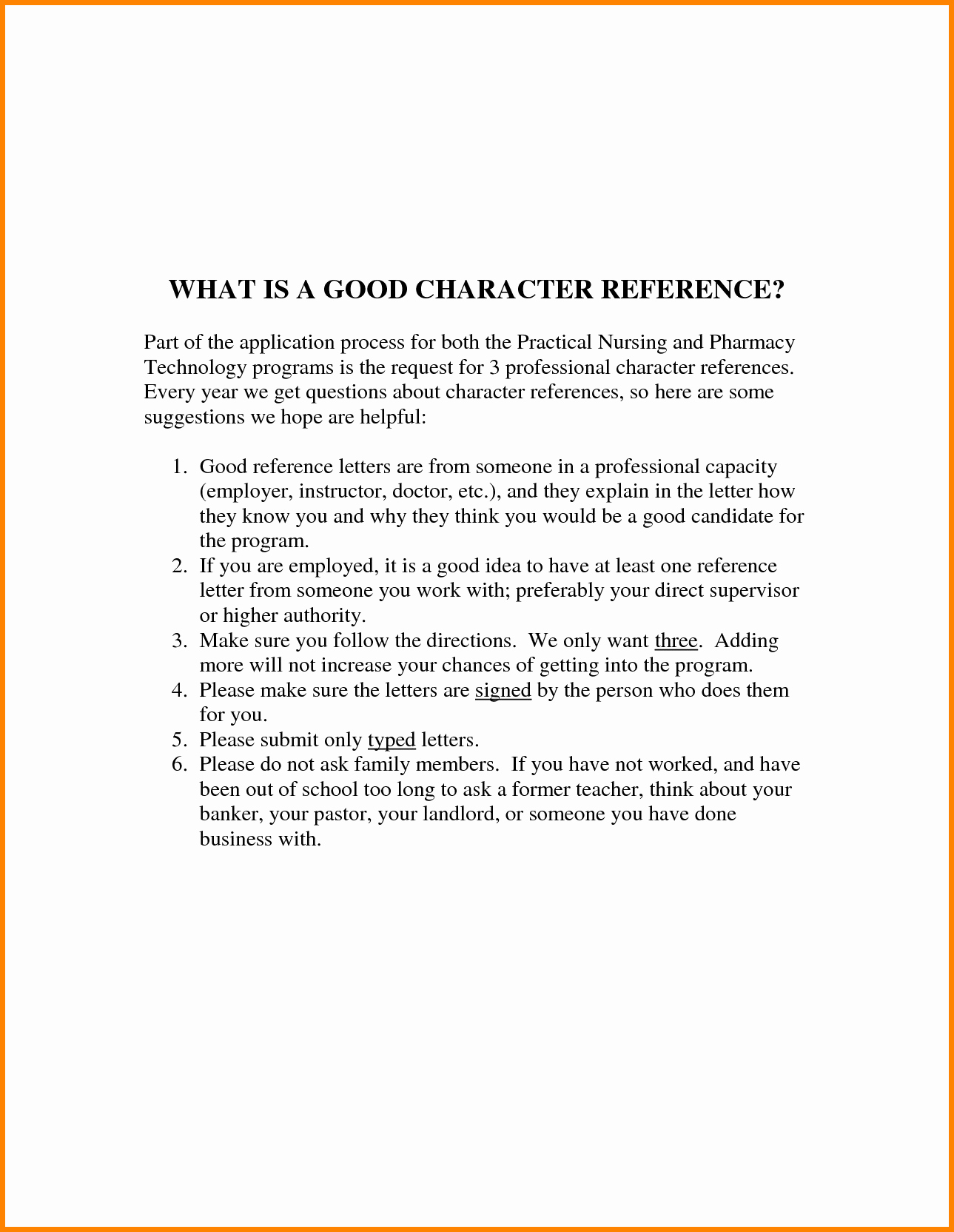 Copy Of A Reference Letter Best Of 9 Good Character Reference Letter