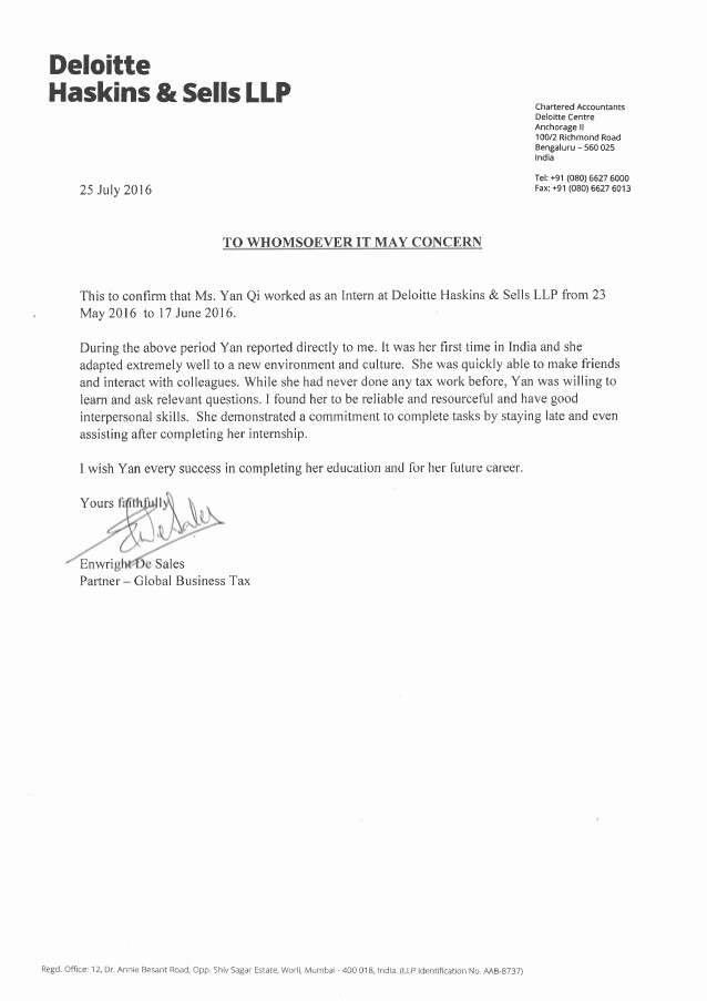 Copy Of A Reference Letter Best Of Deloitte Reference Letter Copy