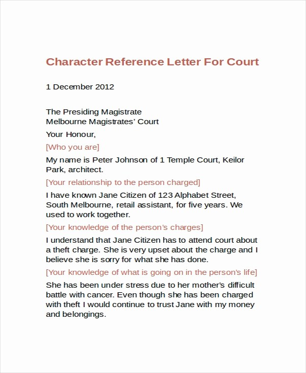Copy Of A Reference Letter Lovely 9 Sample Character Reference Letter Templates Pdf Doc