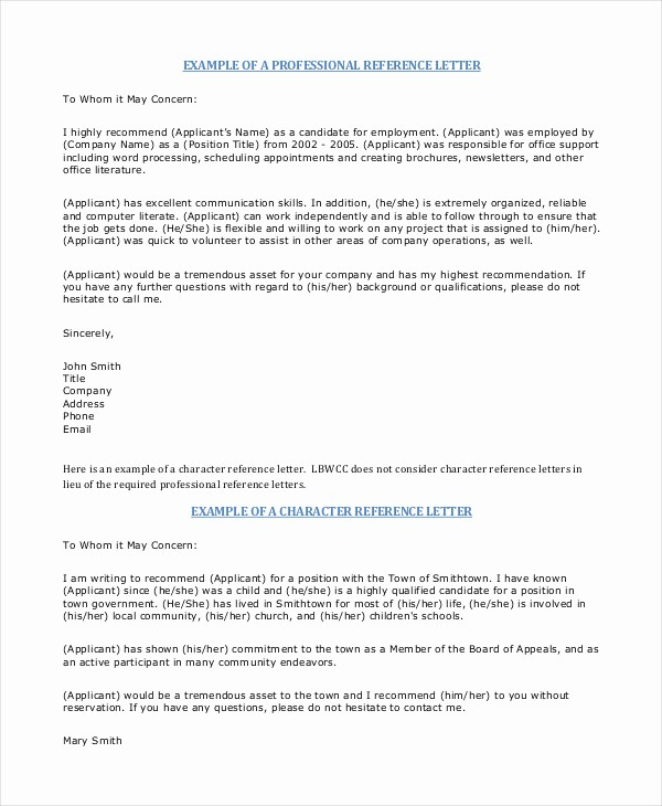 Copy Of A Reference Letter Luxury Professional Reference Letter 12 Free Sample Example