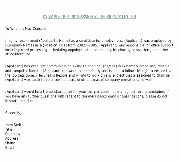 Copy Of A Reference Letter New Resume Responsibilities Re Mendation Letter Template