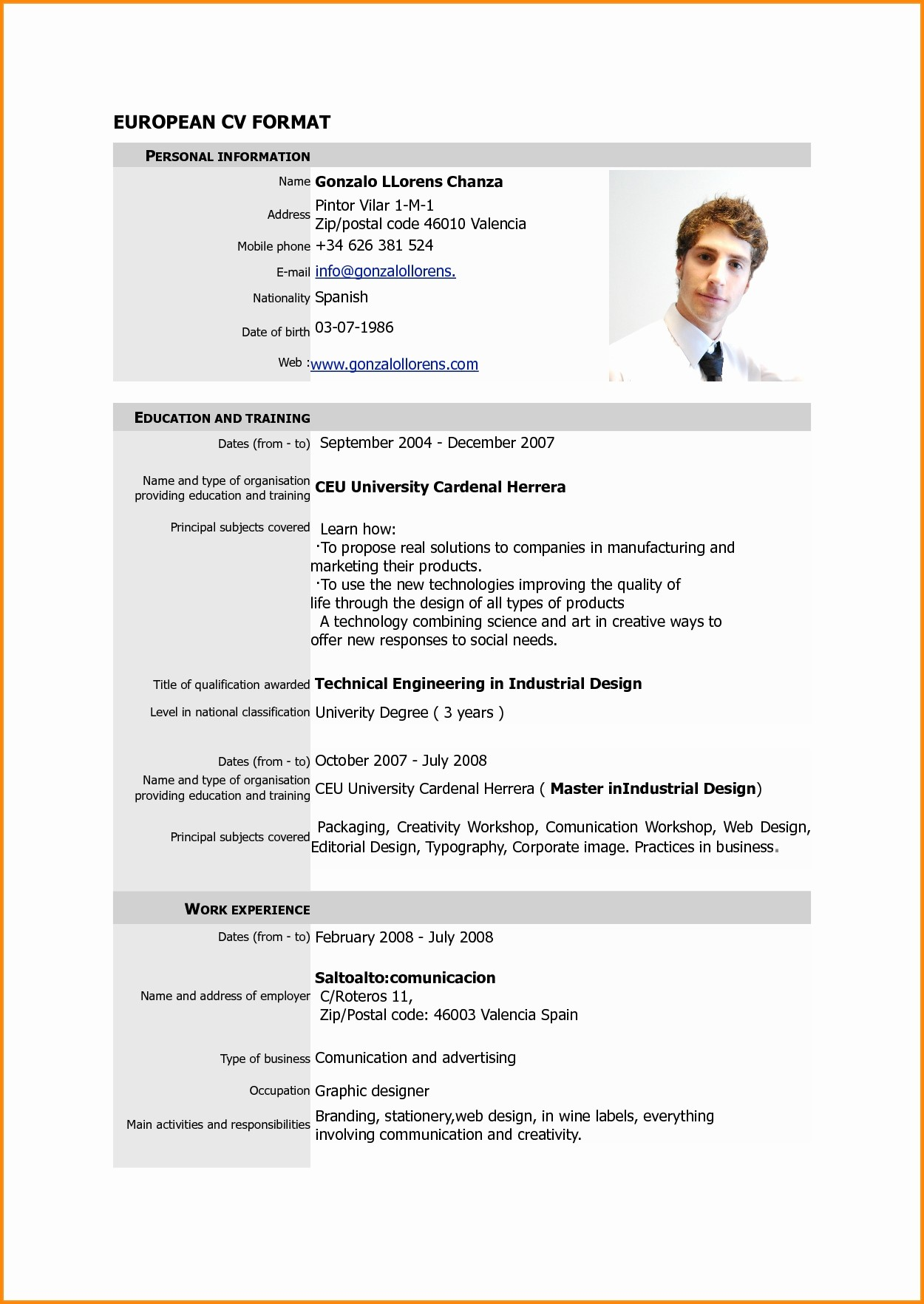 Copy Of A Resume format Best Of format A Cv for Job Application
