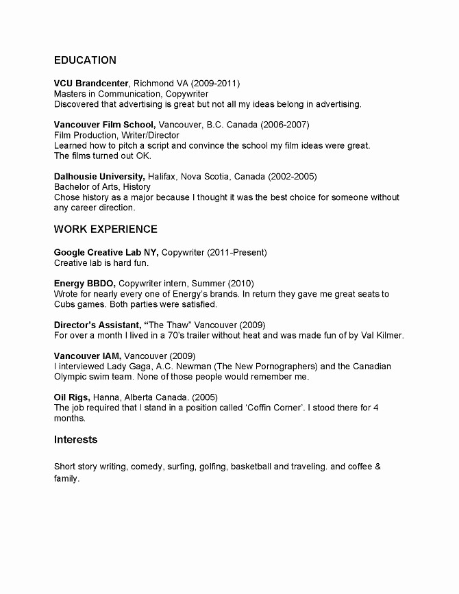Copy Of A Resume format Fresh Simple Resume Template Resume Templates Copy and Paste