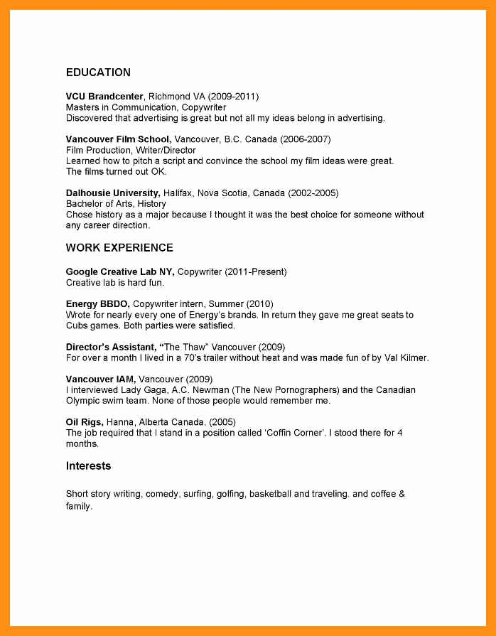 Copy Of A Resume format Lovely Copy and Paste Resume Examples