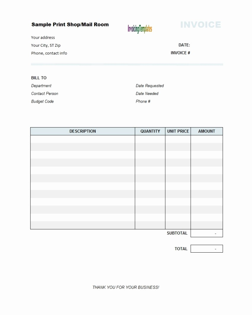 Copy Of An Invoice Template Unique Copy Blank Invoice Invoice Template Ideas