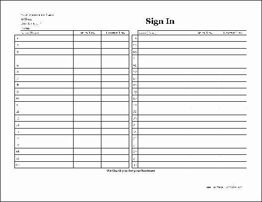 Copy Of Sign In Sheet Best Of Free Easy Copy Basic Pany Sign In Sheet Wide From