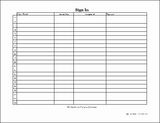 Copy Of Sign In Sheet Elegant Free Easy Copy Simple Volunteer Sign In Sheet with