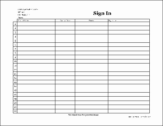 Copy Of Sign In Sheet Inspirational Free Easy Copy Simple Pany Patient Sign In Sheet with