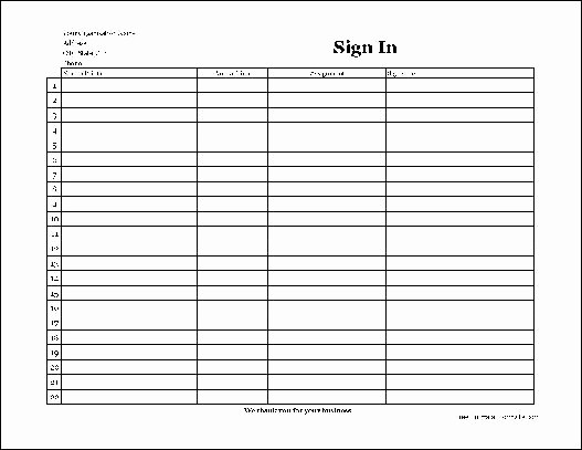 Copy Of Sign In Sheet New Free Easy Copy Simple Pany Volunteer Sign In Sheet with
