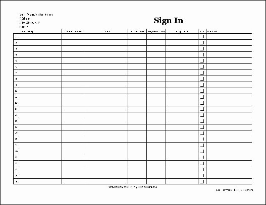 Copy Of Sign In Sheet Unique Free Easy Copy Detailed Pany Volunteer Sign In Sheet