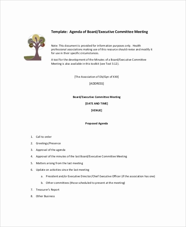 Corporate Board Meeting Minutes Template Lovely 15 Mittee Meeting Agenda Templates – Free Sample