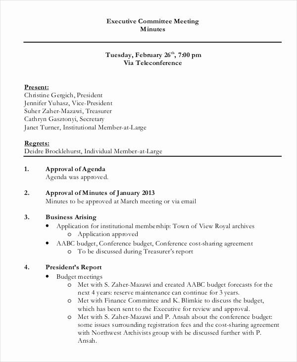 Corporate Board Meeting Minutes Template Lovely Best Meeting Minutes Template 27 Word Pdf Documents