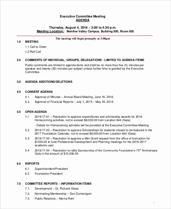Corporate Board Meeting Minutes Template Unique 41 Meeting Agenda Templates