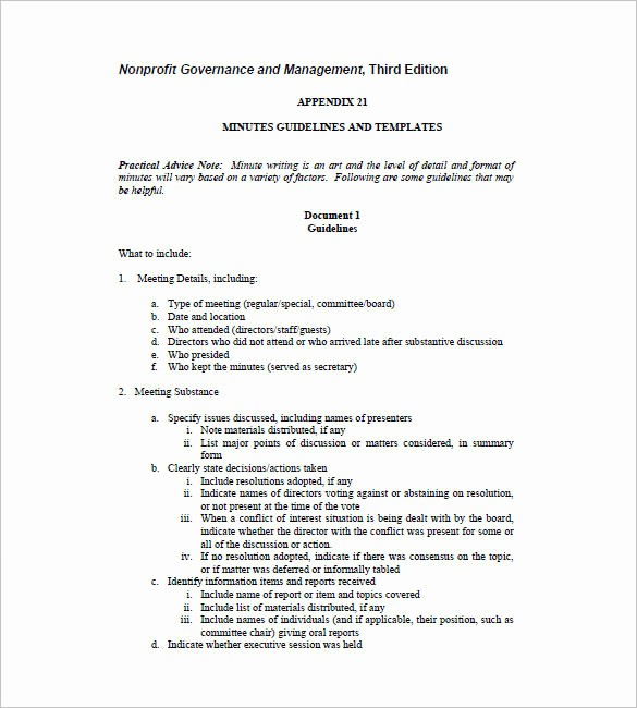 Corporate Board Meeting Minutes Template Unique Board Meeting Minutes Template Free Templates Resume