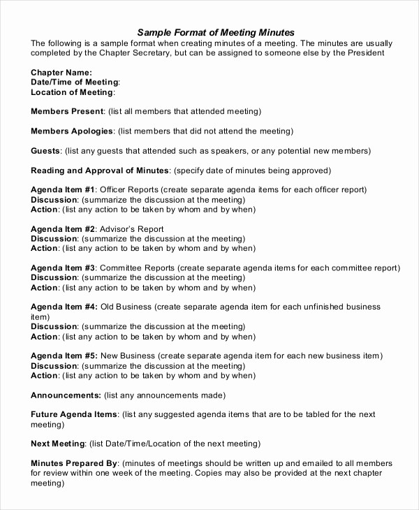 Corporate Meeting Minutes Template Free Beautiful 22 Business Minutes Templates – Free Sample Example