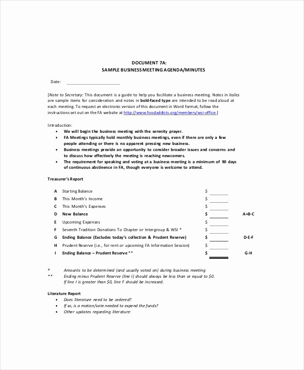 Corporate Meeting Minutes Template Free Beautiful Business Meeting Agenda Template