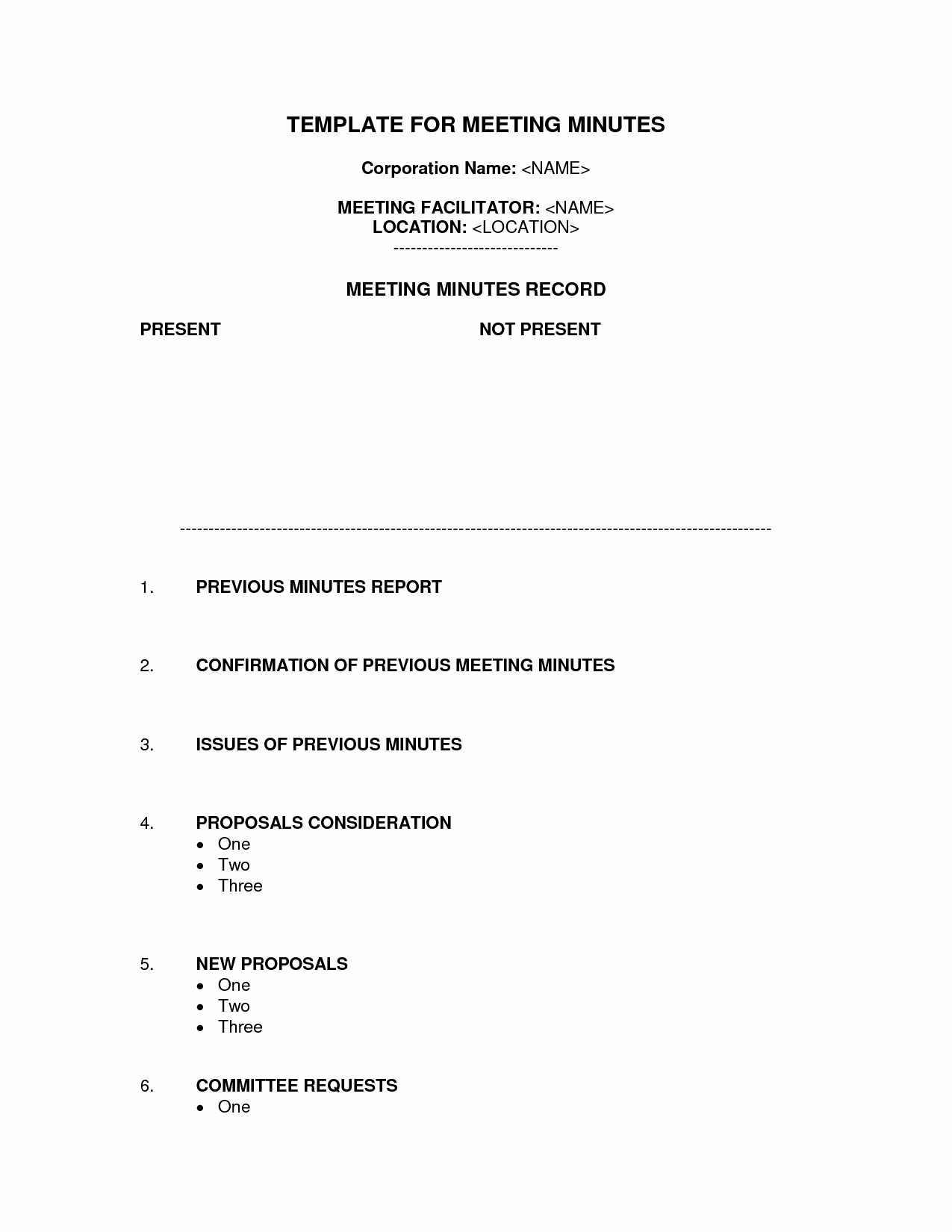 Corporate Meeting Minutes Template Free Beautiful Staff Meeting Minutes Template Word