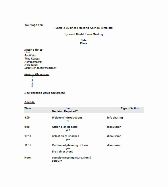 Corporate Meeting Minutes Template Free Best Of 8 Simple Agenda Templates – Free Sample Example format