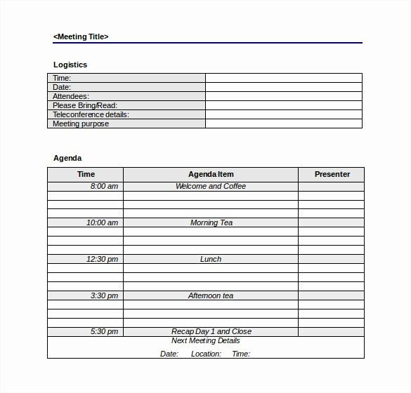 Corporate Meeting Minutes Template Free Elegant 50 Meeting Agenda Templates Pdf Doc