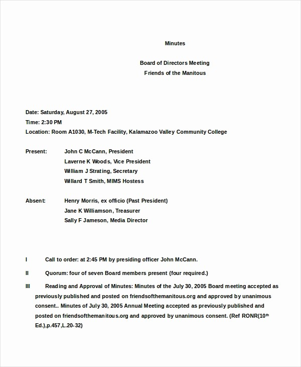 Corporate Meeting Minutes Template Free Lovely 16 Board Minutes Templates Example Word Apple Pages
