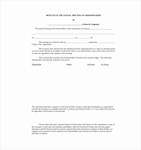 Corporate Meeting Minutes Template Free Luxury 22 Minutes Templates Word Excel Pdf