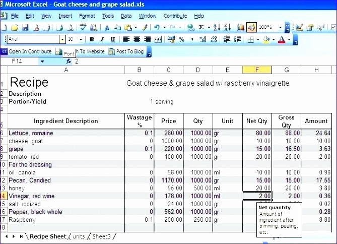 Cost Per Mile Calculator Excel Awesome Food Cost Excel Template Awesome Restaurant Inventory